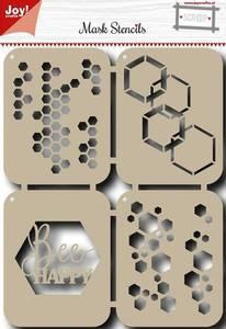 Bilde av Joy Crafts - 6002-0828 - Mask Stencils - Bee Happy