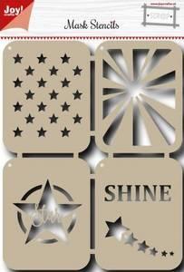 Bilde av Joy Crafts - 6002-0829 - Mask Stencils - Stars