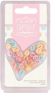 Bilde av Papermania - Polka Mini Buttons - Spots & Stripes Pastels - 60st