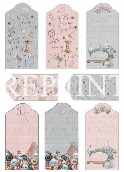 Reprint -  A4 Klippeark - KP0067 - Sewing