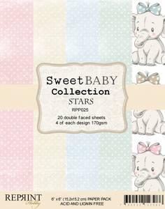 Bilde av Reprint - 6x6 - RPP025 - Sweet Baby Collection pack Stars