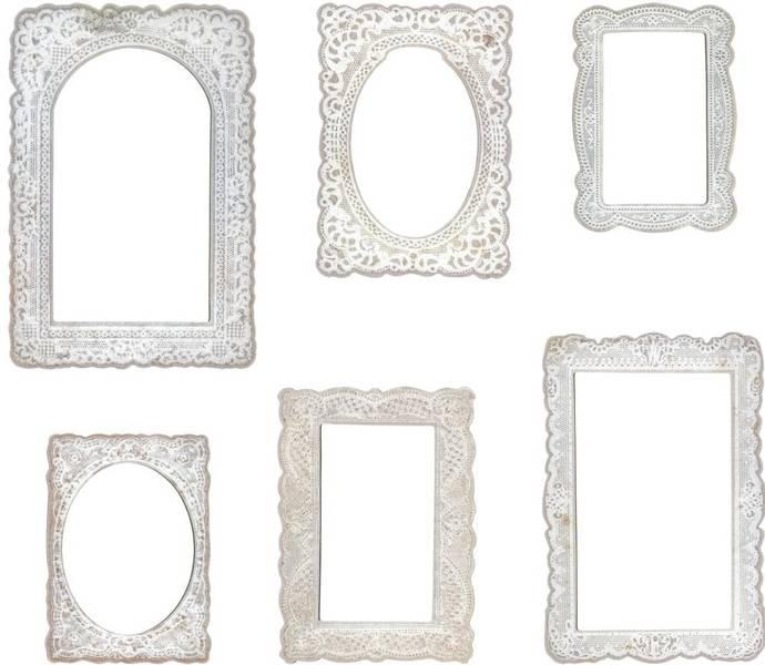 Tim Holtz - Idea-ology - TH93786 - Lace Baseboard Frames (6pcs)