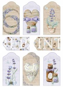 Bilde av Reprint -  A4 Klippeark - KP0070 - Lavendel