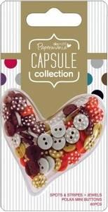Bilde av Papermania - Polka Mini Buttons - Spots & Stripes Jewels - 60stk