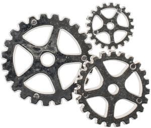 Bilde av Blumenthal - Steampunk Buttons - 1817 - Silver Gear