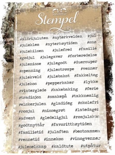 Papirdesign - Stempel - PD14951 - Hashtags jul
