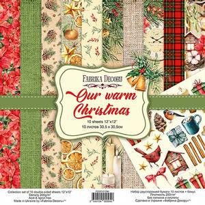 Bilde av Fabrika Decoru - 12x12 paper pack - 01094 - Our warm Christmas