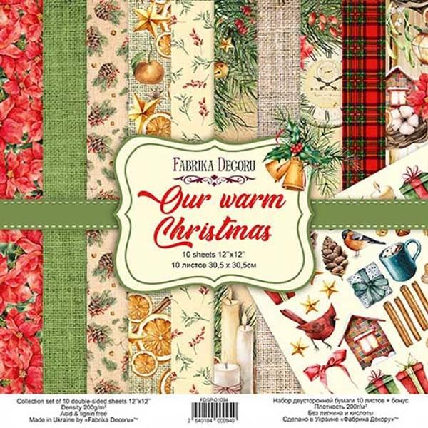 Fabrika Decoru - 12x12 paper pack - 01094 - Our warm Christmas