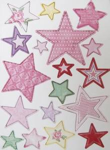 Bilde av Papirdesign - Chipboards - 630 - Stjerner Rosa