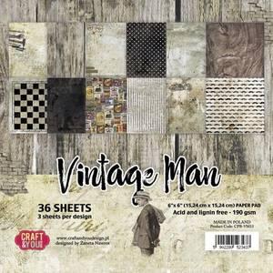 Bilde av Craft & You - VM15 - Vintage Man - 6x6 Paper Pad