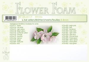 Bilde av Leane Creatief - Flower Foam - A4 - 0.8mm. - White - 1 stk