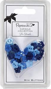 Bilde av Papermania - Daisy Mini Buttons - Burleigh Blue - 30stk