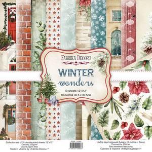 Bilde av Fabrika Decoru - 12x12 paper pack - 01093 - Winter wonders