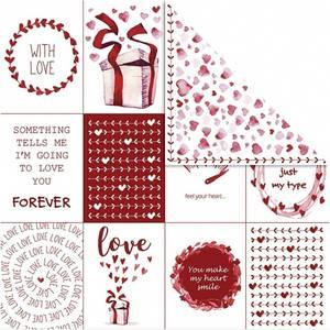 Bilde av Vivi Gade - Designpapir - Love & hjerter - 5 stk ark