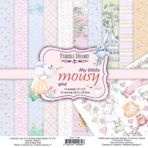 Bilde av Fabrika Decoru - 12x12 paper pack - 01089 - My little mousy girl