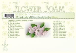 Bilde av Leane Creatief - Flower Foam - A4 - 0.8mm. - Off-white - 1stk
