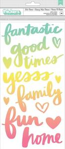 Bilde av Thickers - 345713 - Puffy Phrase stickers - Ombre - Let's Dance