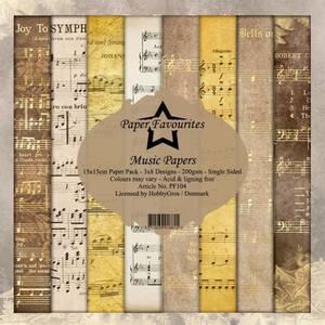 Bilde av Paper Favourites - 6x6 Paper Pad - PF104 - Music Papers