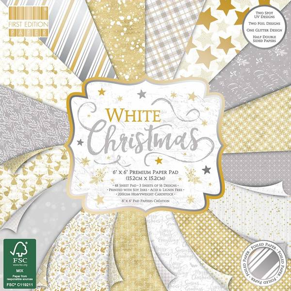 First Edition - 223 - 6x6 Paper Pad - White Christmas