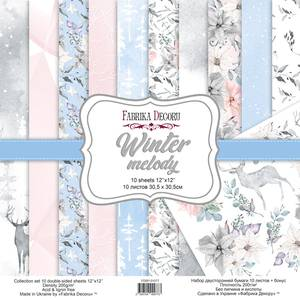 Bilde av Fabrika Decoru - 12x12 paper pack - 01077 - Winter melody