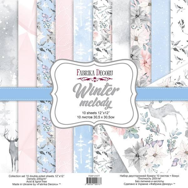 Fabrika Decoru - 12x12 paper pack - 01077 - Winter melody