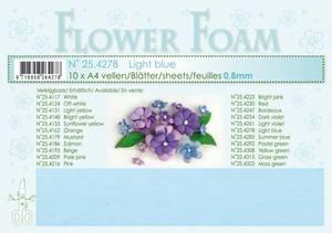 Bilde av Leane Creatief - Flower Foam - A4 - 0.8mm. - Light blue - 1stk