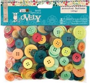 Bilde av Papermania - Assorted Buttons - Sew Lovely - 250g