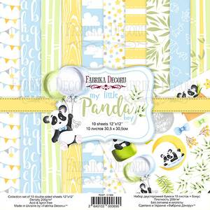 Bilde av Fabrika Decoru - 12x12 paper pack - 01069 - My little panda boy