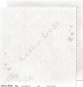 Bilde av Kort & Godt - Mønsterpapir 107860 - Bryllup 1 - 4053