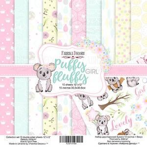 Bilde av Fabrika Decoru - 12x12 paper pack - 01058 - Puffy Fluffy Girl