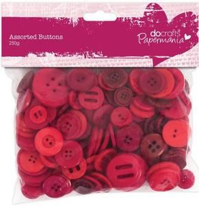 Bilde av Papermania - Assorted Buttons - Red - 250g