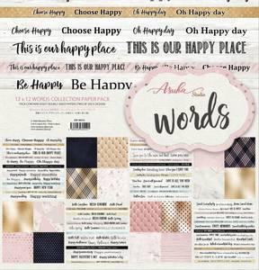 Bilde av Memory Place - Words - 12x12 Paper Pack