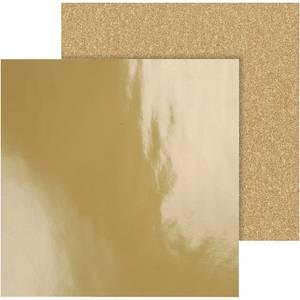 Bilde av Vivi Gade - Designpapir - Glitter & Gloss - Gull - 2 stk ark