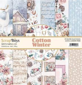 Bilde av ScrapBoys - Cotton Winter - 6x6 Paper Pad