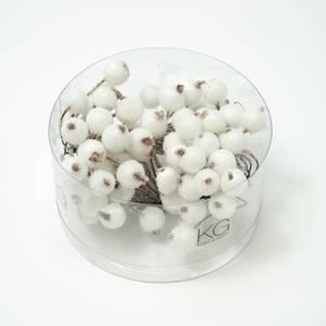 Bilde av Kort & Godt - PB201 - Pyntebær - 11mm - Frost Hvit