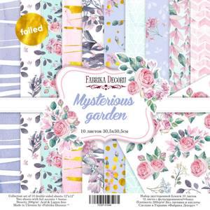 Bilde av Fabrika Decoru - 12x12 paper pack - 01048 - Mysterious garden