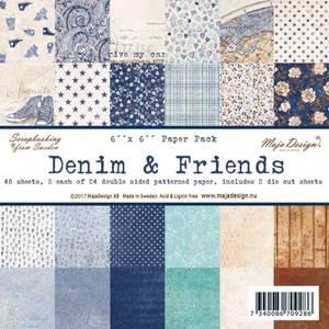 Bilde av Maja Design -  928 - Paper pad 6x6 - Denim & Friends