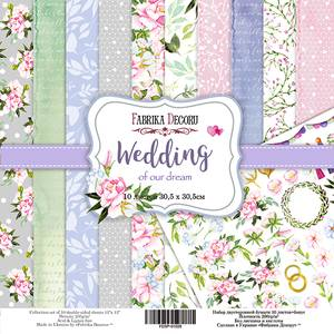 Bilde av Fabrika Decoru - 12x12 paper pack - 01029 - Wedding of our dream