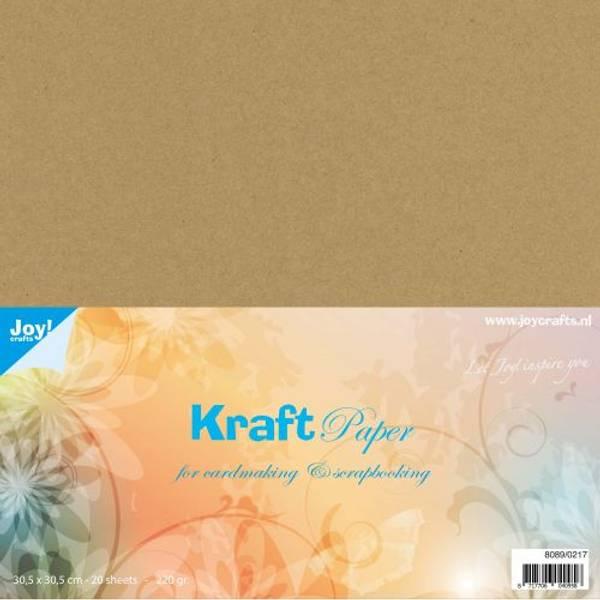 Joy Crafts - Kartong - 8089/0217 - Kraft Paper 220g - 12x12 - 20