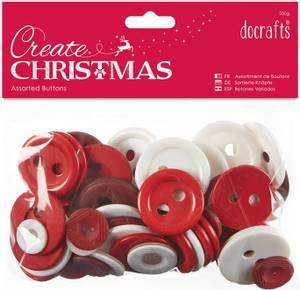 Bilde av Papermania - Assorted Buttons - Nordic Christmas - 250g