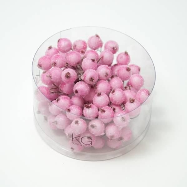 Kort & Godt - PB208 - Pyntebær - 11mm - Frost Rosa