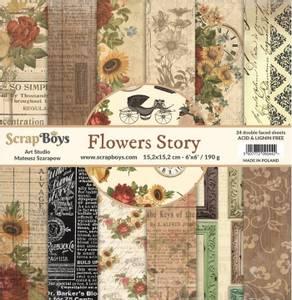 Bilde av ScrapBoys - Flowers Story - 6x6 Paper Pad