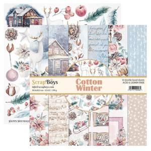 Bilde av ScrapBoys - Cotton Winter - 12x12 Paper Pack