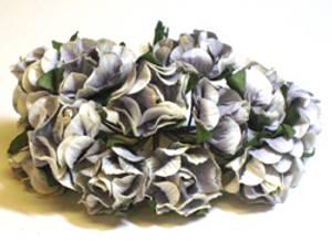 Bilde av Kort & Godt - Rose krøll L - Blå (gråblå) - 5317