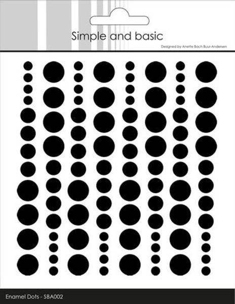 Simple and Basic - SBA002 - Enamel Dots - Jet Black