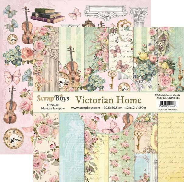 ScrapBoys - Victorian Home - 12x12 Paper Pack