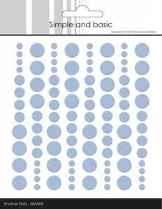 Bilde av Simple and Basic - SBA005 - Enamel Dots - Pigeon Blue