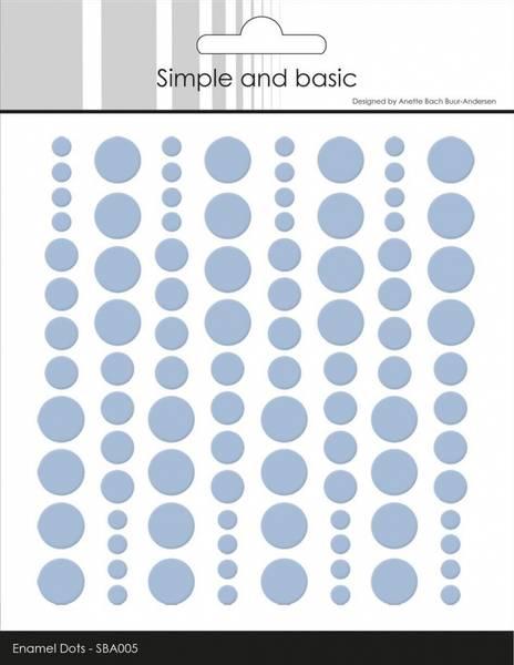 Simple and Basic - SBA005 - Enamel Dots - Pigeon Blue