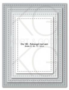 Bilde av Kort & Godt - Die 182 - Rektangel med søm