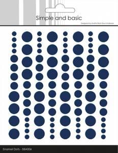 Bilde av Simple and Basic - SBA006 - Enamel Dots - Dark Blue